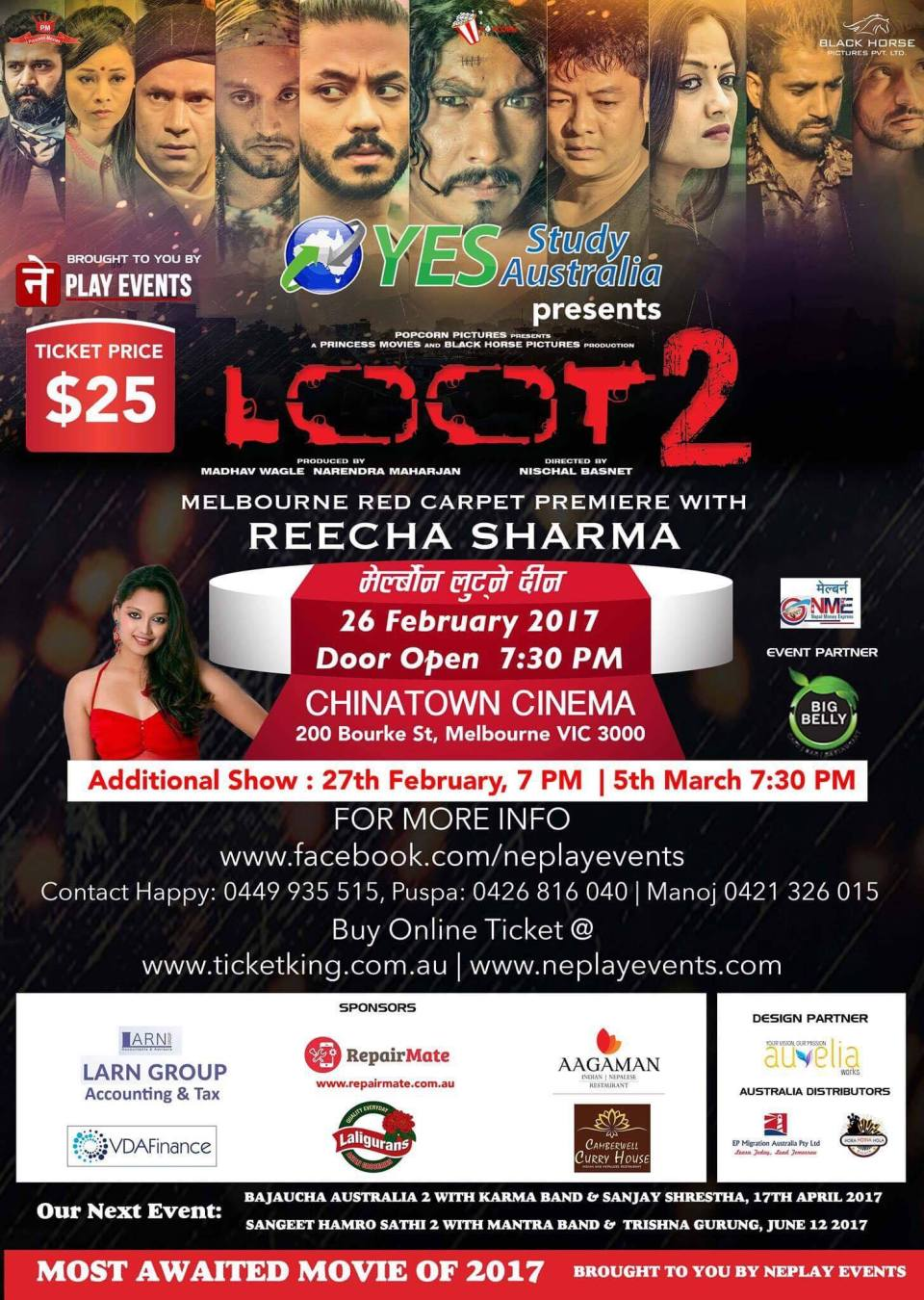 16010453_1411978292160280_1528634635_o1 Loot-2 Tickets Now on sale simply inbox me to save your tickets